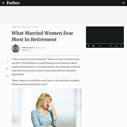 What Married Women Fear Most In Retirement
