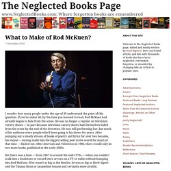 What to Make of Rod McKuen? – The Neglected Books Page