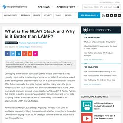 What is the MEAN Stack and Why is it Better than LAMP?