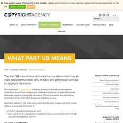 What Part VB Means - Copyright Agency