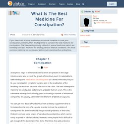What Is The Best Medicine For Constipation?
