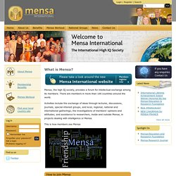 What is Mensa? | Mensa International