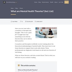 What are Mental Health Theories? (Incl. List)