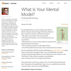 What Is Your Mental Model?