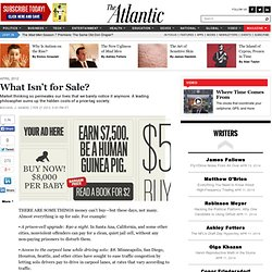What Isn't for Sale? - Magazine