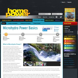 What is Microhydro Power?