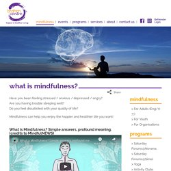 what is mindfulness? - Brahm Centre