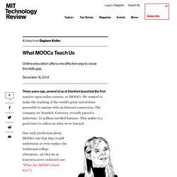 What MOOCs Teach Us
