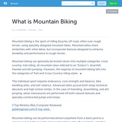 What is Mountain Biking