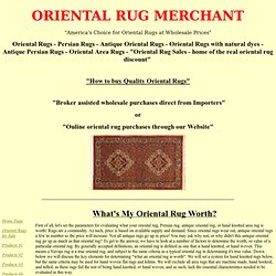 What's My Oriental Rug Worth?