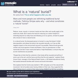What is a 'natural' burial?