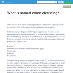 What is natural colon cleansing?