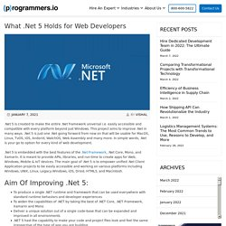 What .Net 5 Holds for Web Developers