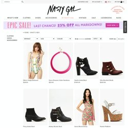 New - Sale | NASTY GAL | Jeffrey Campbell shoes, Evil Twin, MinkPink, BB...