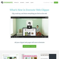 What's New in Evernote Web Clipper