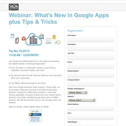 What's New in Google Apps Webinar