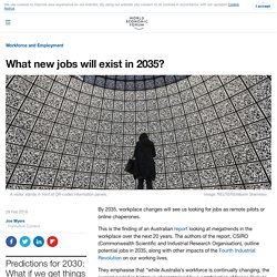 What new jobs will exist in 2035?