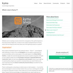What's new in Kyma 7? | kyma