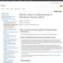 What's New in Networking