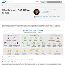 What is new in SAP HANA SPS10 - SAP HANA