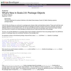 What's New in Scala 2.8: Package Objects