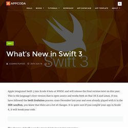 What's New in Swift 3 - AppCoda