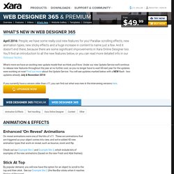 What's New in Xara Web Designer 11