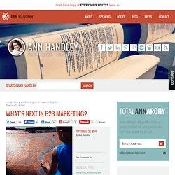 What's Next in B2B Marketing?