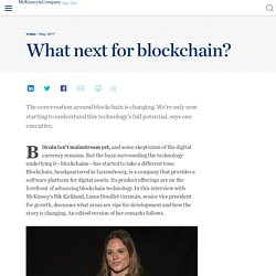 What next for blockchain?