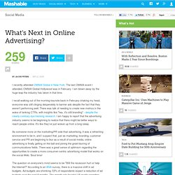 What's Next in Online Advertising? - Mashable