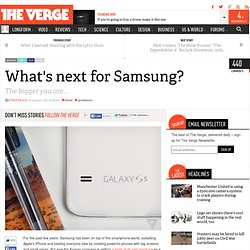 What's next for Samsung?
