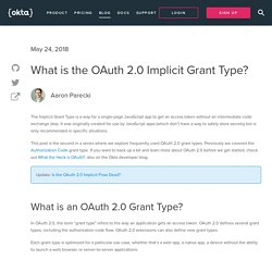 What is the OAuth 2.0 Implicit Grant Type?