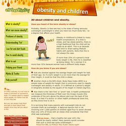 What is obesity in kids