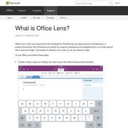 What is Office Lens? - OneNote for iPad