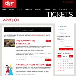 Events & Hireage - Court Theatre