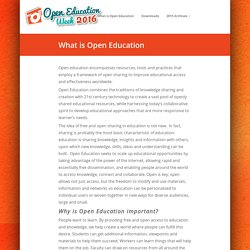 What is Open Education