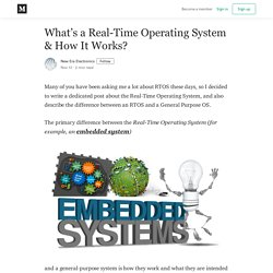 What's a Real-Time Operating System & How It Works?