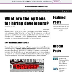 What are the options for hiring developers?