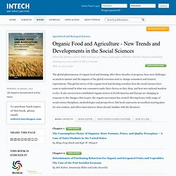 INTECH 05/01/12 Organic Food and Agriculture - New Trends and Developments in the Social Sciences