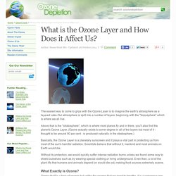 What is the Ozone Layer and How Does it Affect Us?