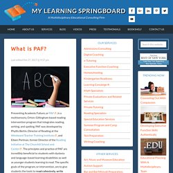 What is PAF? - My Learning Springboard