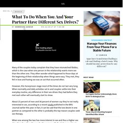 What To Do When You And Your Partner Have Different Sex Drives?