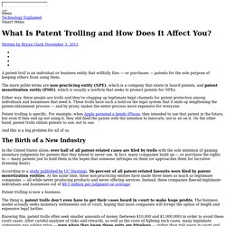 What Is Patent Trolling and How Does It Affect You?