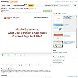 What Does a Perfect E-Commerce Checkout Page Look Lik