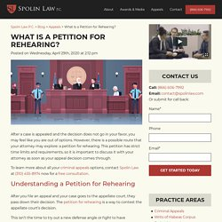 What Is a Petition for Rehearing?