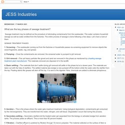 What are the key phases of sewage treatment?