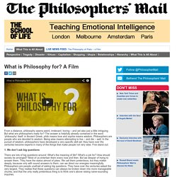 What is Philosophy for? A Film