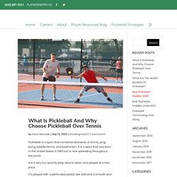 What Is Pickleball And Why Choose Pickleball Over Tennis