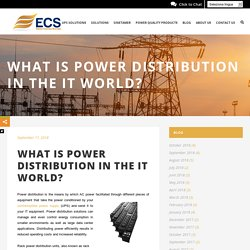 """What is """"power distribution"""" in the IT world?"""