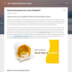 What are the health risks associated with Modafinil Misuse?